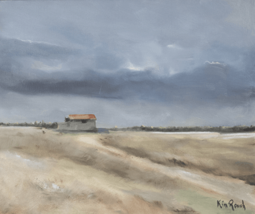 Cabane 2 - Huile sur toile - 55x47