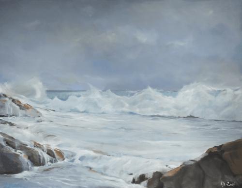 Vague 4 - Huile sur toile - 146x118