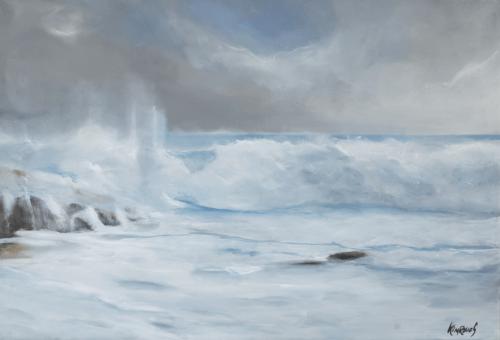 Vague 9 - Huile sur toile - 92x65